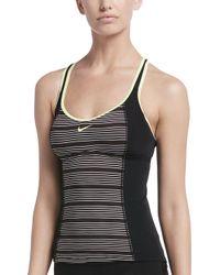 23a3665c82 Nike - 6:1 Heather Stripe Racerback Tankini Top - Lyst
