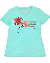 Guy Harvey - Floral Rush V-neck T-shirt - Lyst