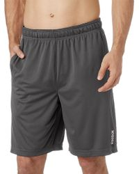 Reebok - Solid Performance Shorts - Lyst