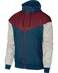 f8c0710cc413 Lyst - Nike  windrunner  Colorblock Jacket in Blue for Men