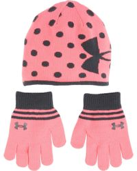 Under Armour - Little Girls' Knit Beanie And Gloves—combo Pack - Lyst