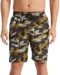 37a8c018c2 Nike Camo Swim Shorts in Blue for Men - Lyst