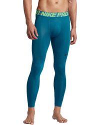 78a0b5fb46199 Lyst - Nike Pro Hypercool 3/4 Length Tights in Black for Men