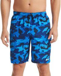 37a8c018c2 Nike Camo Swim Shorts in Blue for Men - Lyst