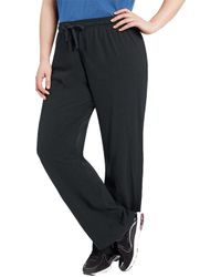 413badd5fb31 Lyst - Champion Qm1243 Jersey Plus Size Pant (black 4x) in Black