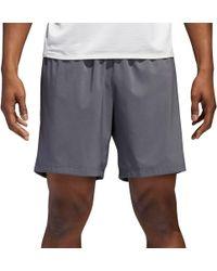 lyst adidas originali doppio in tecnologia pantaloncini grigio per gli uomini.