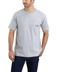 b7f8d19df4 Carhartt Workwear Graphic Branded C Pocket T-shirt in Gray for Men ...
