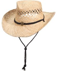 Dorfman Pacific - Panama Jack Seagrass Outback Hat - Lyst