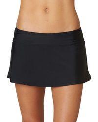 5c949b37217 Lyst - Nike Swim Board Skirt in Black