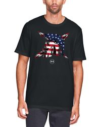 Lyst Under Armour Ua Freedom Team Usa Graphic Tee In Black For Men