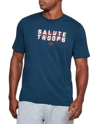 Under Armour - Support The Troops Graphic T-shirt - Lyst