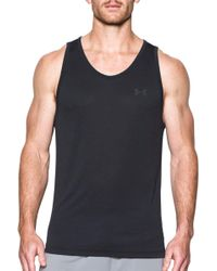 1ccea9c38e047 Lyst - Under Armour Sc30 Core Base Tank Top in Black for Men