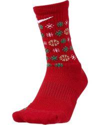 Nike - Elite Holiday Basketball Crew Socks - Lyst