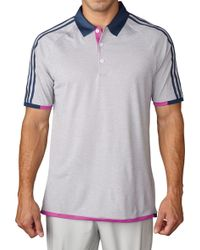 Adidas | Climachill® 3-stripes Competition Golf Polo | Lyst