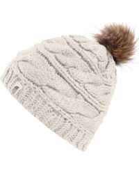 The North Face - Triple Cable Pom Beanie - Lyst