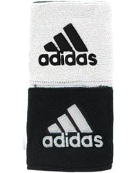 "adidas - Interval Reversible Wristbands - 3"" - Lyst"