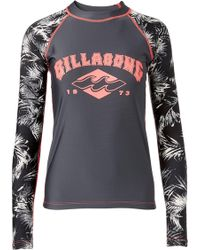 Billabong - Print Mix Up Long Sleeve Rash Guard - Lyst