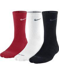 Nike - Dri-fit Cushion Crew Socks 3 Pack - Lyst