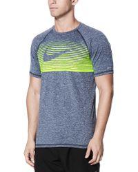 0c456545 Lyst - Nike Men's Hydro Dri-fit Uv Protection Print Swim Shirt in ...