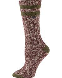 Sorel - Cotton Varsity Stripe Crew Socks - Lyst
