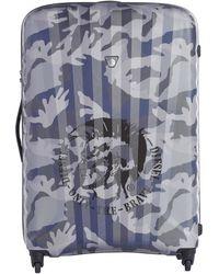 DIESEL - Large luggage In Camouflage Print - Lyst