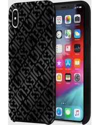 DIESEL - Distressed Logo Pattern Case, Iphone Xs Max - Lyst