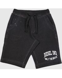 DIESEL - Treated Fleece Short Trousers - Lyst