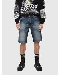 DIESEL - Slim Shorts In Denim With Dirt Effect - Lyst