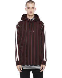 DIESEL - Hooded Sweatshirt In Striped Jersey - Lyst