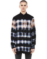 DIESEL - Regular Shirt In Bleached Check Flannel - Lyst
