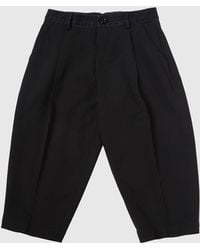 DIESEL - Cropped Trousers With Tapered Leg - Lyst