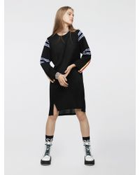 DIESEL - Jersey Dress With Contrasting Graphic - Lyst