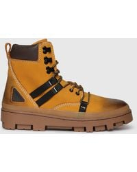 DIESEL - Double Coloured Boots In Leather - Lyst