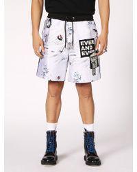 DIESEL - Japanese-inspired Short Trousers - Lyst