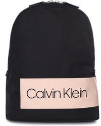 Calvin Klein - Women's Box Logo Backpack Black - Lyst