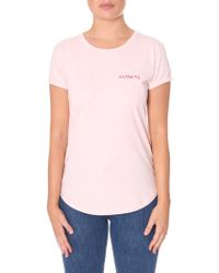 Maison Labiche - Women's Awesome Tee Heather Pink - Lyst