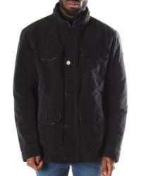 Armani Jeans - Button Through Caban Coat B6k10 Blue - Lyst