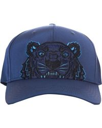 KENZO - Men's Tiger Canvas Cap Navy Blue - Lyst