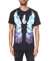 079a856fb True Religion Neon Buddha Men s Graphic Tee Black in Black for Men ...