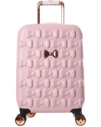56cb59f46a9e Ted Baker - Beaue Women s Moulded Bow 4 Wheel Trolley Pink - Lyst