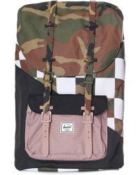 7b802400fc1 Herschel Supply Co. - Little America Backpack Woodland Camo ash  Rose checker -