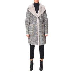 Rino & Pelle - Women's Reversible Faux Shearling Coat Checked - Lyst