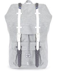 Herschel Supply Co. - Men's Little America Backpack Light Grey Crosshatch/white/blueprint Stripe - Lyst