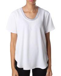Michael Kors - Women's Cowl Neck Short Sleeve Top White - Lyst