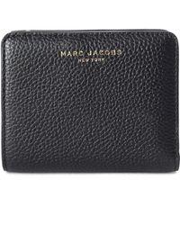 Marc Jacobs - Women's Gotham Mini Compact Wallet Black/gold - Lyst