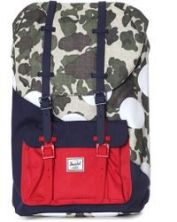 Herschel Supply Co. - Little America Backpack Frog Camo/barbados Cherry/polka Dot - Lyst