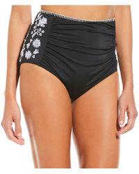 Gianni Bini - Fan Fav High Waist Bikini Swimsuit Bottom - Lyst
