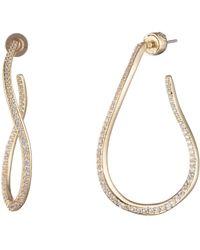 Carolee - Twisted Hoop Earrings - Lyst