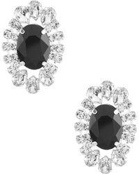 Cezanne - Oval Button Earrings - Lyst