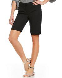 Jones New York | Grace Stretch Twill Slit-hem Bermuda Shorts | Lyst